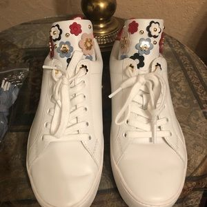 White Michael Kors tennis shoes